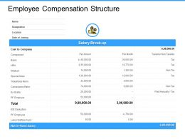 Employee Compensation Structure Component Ppt Powerpoint Presentation Gallery Deck
