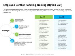 Employee Conflict Handling Training Option Hours Class Ppt Powerpoint Presentation Layouts Summary