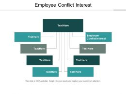 Employee Conflict Interest Ppt Powerpoint Presentation Icon Outline Cpb