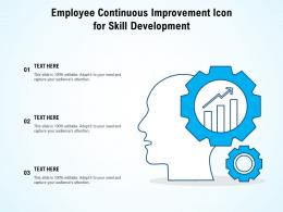 Employee Continuous Improvement Icon For Skill Development