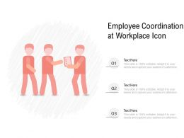 Employee Coordination At Workplace Icon