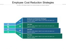 Employee Cost Reduction Strategies Ppt Powerpoint Presentation Pictures Example File Cpb
