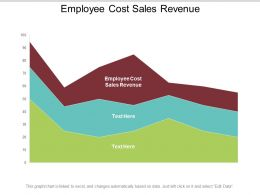 Employee Cost Sales Revenue Ppt Powerpoint Presentation Icon Tips Cpb