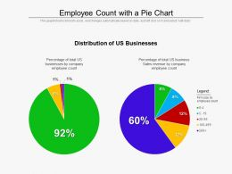 Employee Count With A Pie Chart