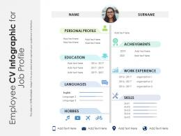 Employee CV Infographic For Job Profile