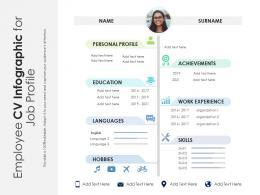 Employee CV Infographic For Job Profile