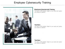 Employee Cybersecurity Training Ppt Powerpoint Presentation Model Background Image Cpb