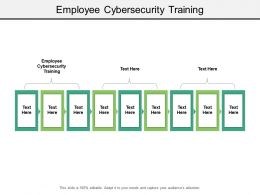 Employee Cybersecurity Training Ppt Powerpoint Presentation Professional Themes Cpb