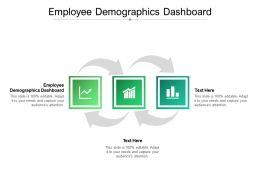 Employee Demographics Dashboard Ppt Powerpoint Presentation Infographics Master Slide Cpb