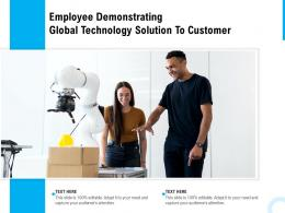 Employee Demonstrating Global Technology Solution To Customer