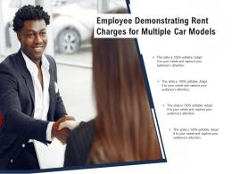 Employee Demonstrating Rent Charges For Multiple Car Models