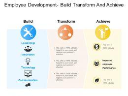 Employee Development Build Transform And Achieve
