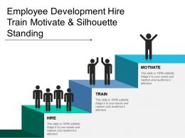 Employee Development Hire Train Motivate And Silhouette Standing