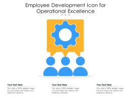 Employee Development Icon For Operational Excellence
