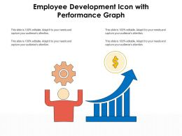Employee Development Icon With Performance Graph