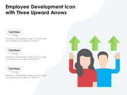 Employee Development Icon With Three Upward Arrows