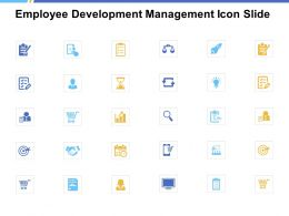Employee Development Management Icon Slide Cheklist A234 Ppt Powerpoint Presentation