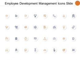 Employee Development Management Icons Slide Social Gear C130 Ppt Powerpoint Presentation Show