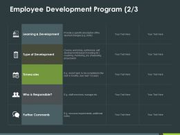 Employee Development Program 2 3 Ppt Powerpoint Presentation Pictures Microsoft