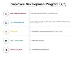 Employee Development Program 2 3 Ppt Powerpoint Presentation Professional Graphics Design