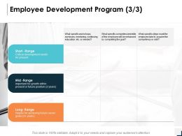 Employee Development Program Critical Development Needs Ppt Powerpoint Presentation Icon Skills