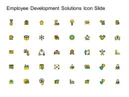 Employee Development Solutions Icon Slide Ppt Powerpoint Presentation File Deck
