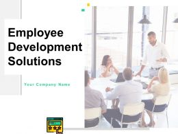 Employee Development Solutions Powerpoint Presentation Slides