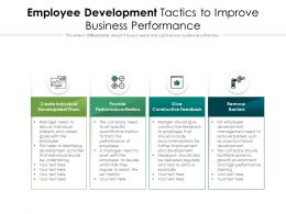 Employee Development Tactics To Improve Business Performance