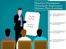 Employee Development Training The Employees To Enhance Their Knowledge