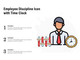 Employee Discipline Icon With Time Clock