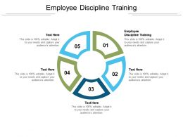 Employee Discipline Training Ppt Powerpoint Presentation Outline Ideas Cpb