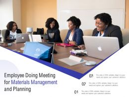 Employee Doing Meeting For Materials Management And Planning