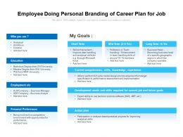 Employee Doing Personal Branding Of Career Plan For Job