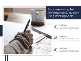 Employee Doing Self Performance Evaluation Using Ranking Scale