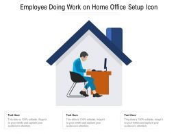 Employee Doing Work On Home Office Setup Icon