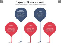 Employee Driven Innovation Ppt Powerpoint Presentation Pictures Graphics Cpb