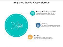 Employee Duties Responsibilities Powerpoint Presentation Infographics Background Cpb