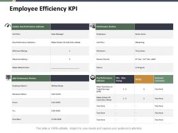 Employee Efficiency Kpi Ppt Summary Professional
