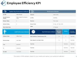 Employee Efficiency KPI Reports Ppt Powerpoint Presentation Inspiration Backgrounds