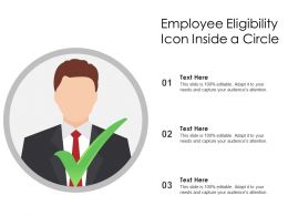 Employee Eligibility Icon Inside A Circle
