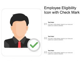 Employee Eligibility Icon With Check Mark