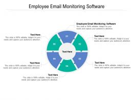Employee Email Monitoring Software Ppt Powerpoint Presentation Visual Aids Professional Cpb