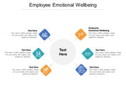 Employee Emotional Wellbeing Ppt Powerpoint Presentation Infographics Designs Cpb