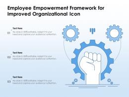Employee Empowerment Framework For Improved Organizational Operations Icon