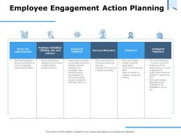 Employee Engagement Action Planning Success Measures Ppt Powerpoint Presentation Model