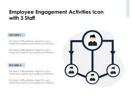 Employee Engagement Activities Icon With 3 Staff