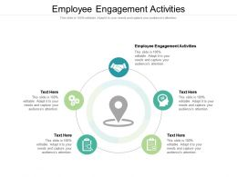 Employee Engagement Activities Ppt Powerpoint Presentation Icon Templates Cpb