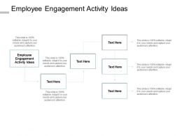 Employee Engagement Activity Ideas Ppt Powerpoint Presentation Portfolio Cpb
