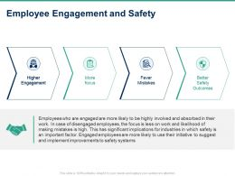 Employee Engagement And Safety Ppt Powerpoint Presentation Icon Layout