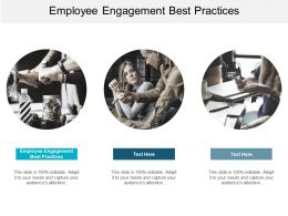 Employee Engagement Best Practices Ppt Powerpoint Presentation Slides Maker Cpb